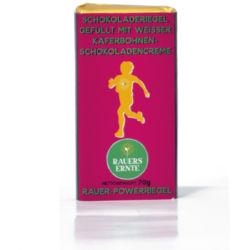 Rauer-Powerriegel Käferbohne-Schokolade weiß