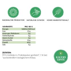 Nährwerte Kürbiskernprotein-Pulver